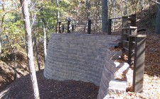 Indiana finished retaining wall