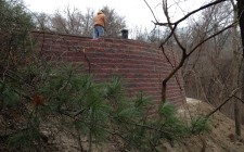 Northwest Indiana retaining wall installation