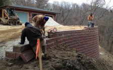 Retaining wall installation Indiana