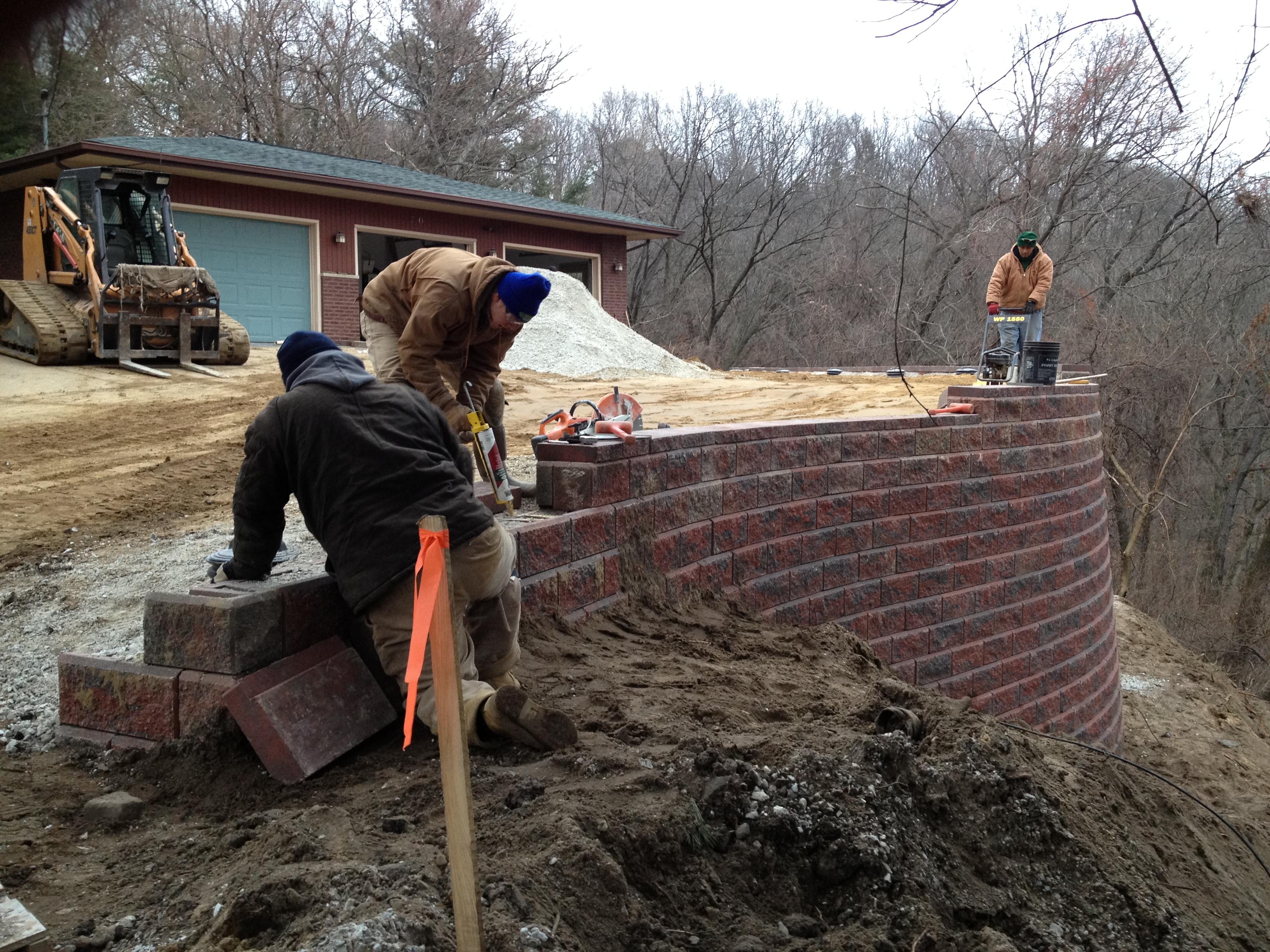 Retaining Wall Installation Indiana · Wall 2 2
