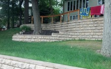Indiana retaining wall installation